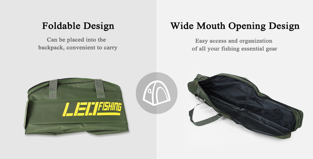 Double Fishing Rod Bag with Side Pocket 1Mtr or 1.5Mtr
